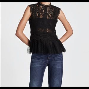 Gorgeous black Zara lace top. Never worn!!
